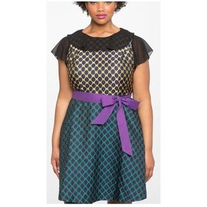 Eloquii Mix Patterned Dress